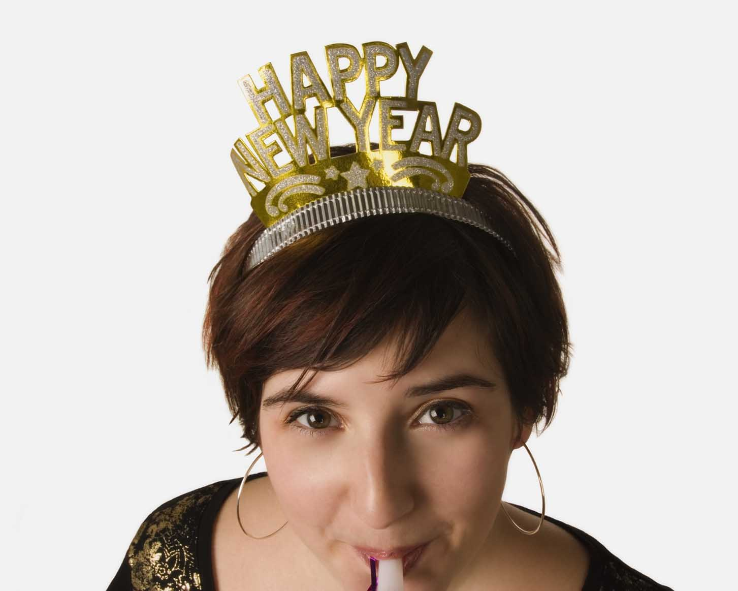 woman celebrating new year by being organized