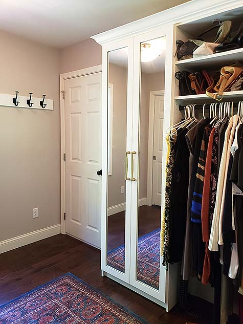 Beautiful Glass Mirrored Doors in Walk In Closet and Sitting Room